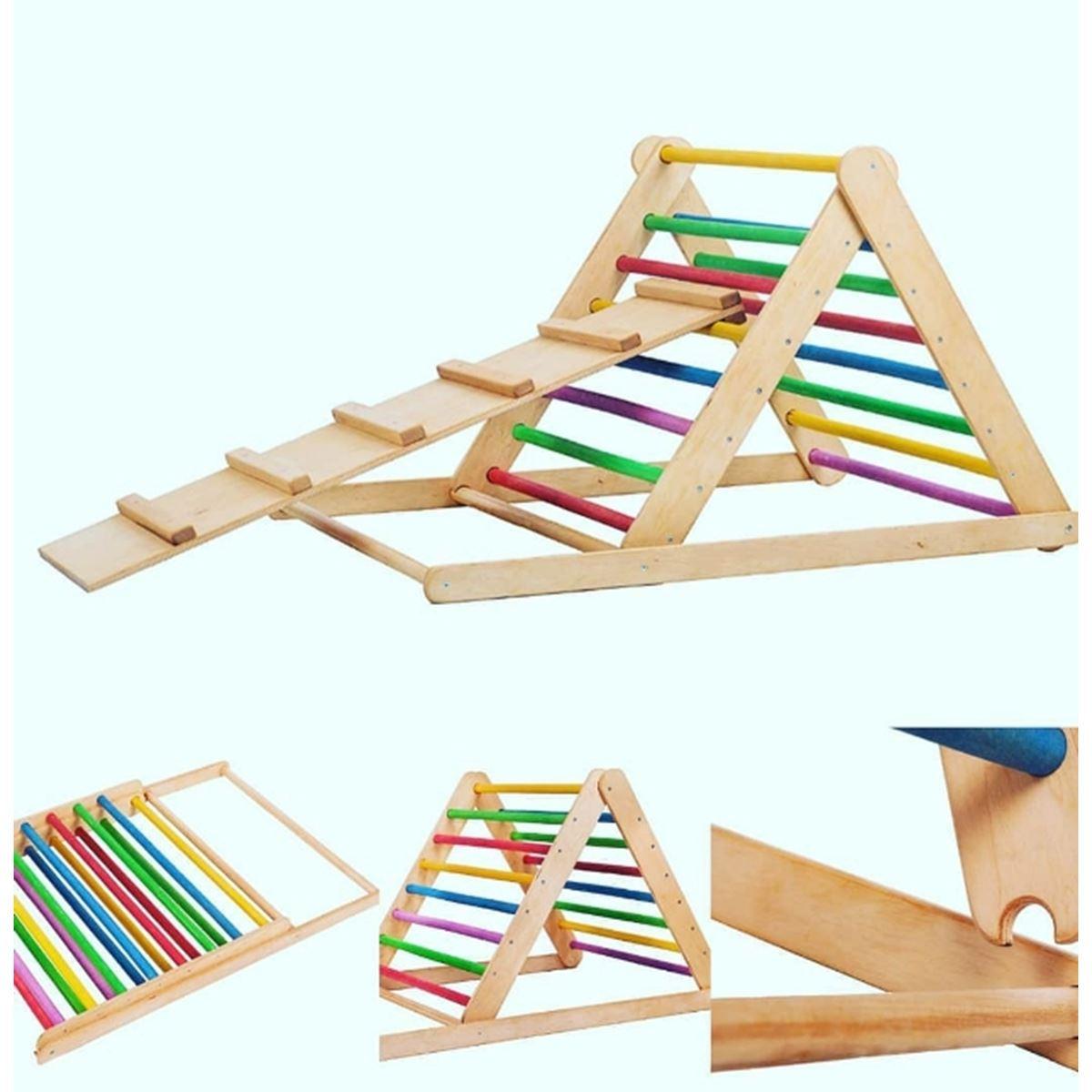 Climb Pikler Tırmanma Merdiveni Rampa Set