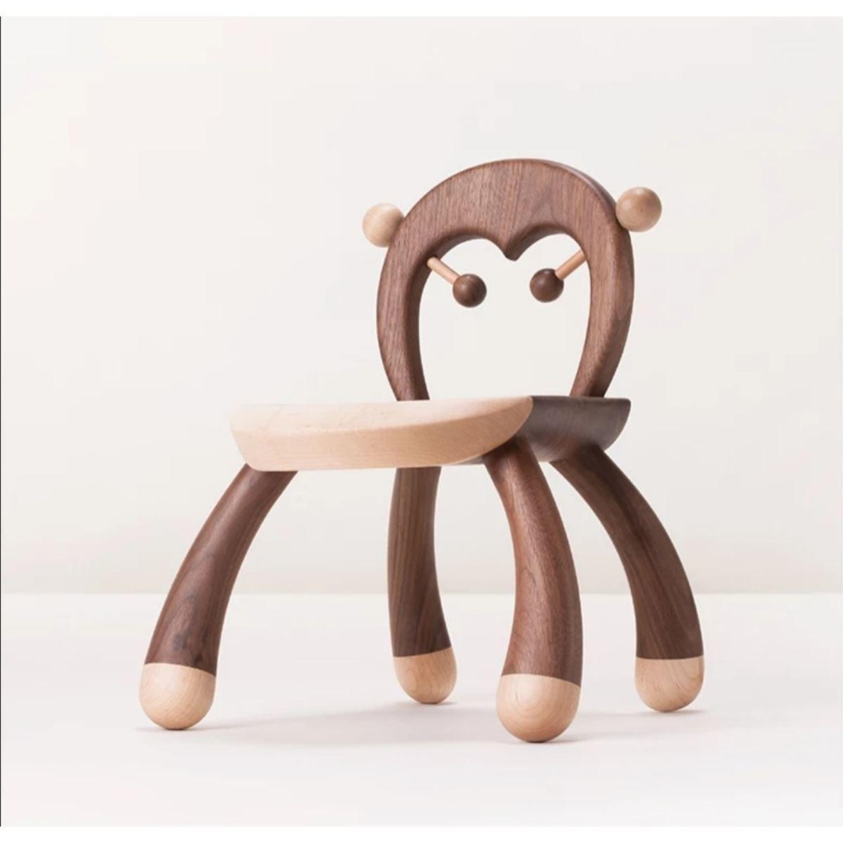 Mukabo Crazy Monkey Ahşap Çocuk Sandalye