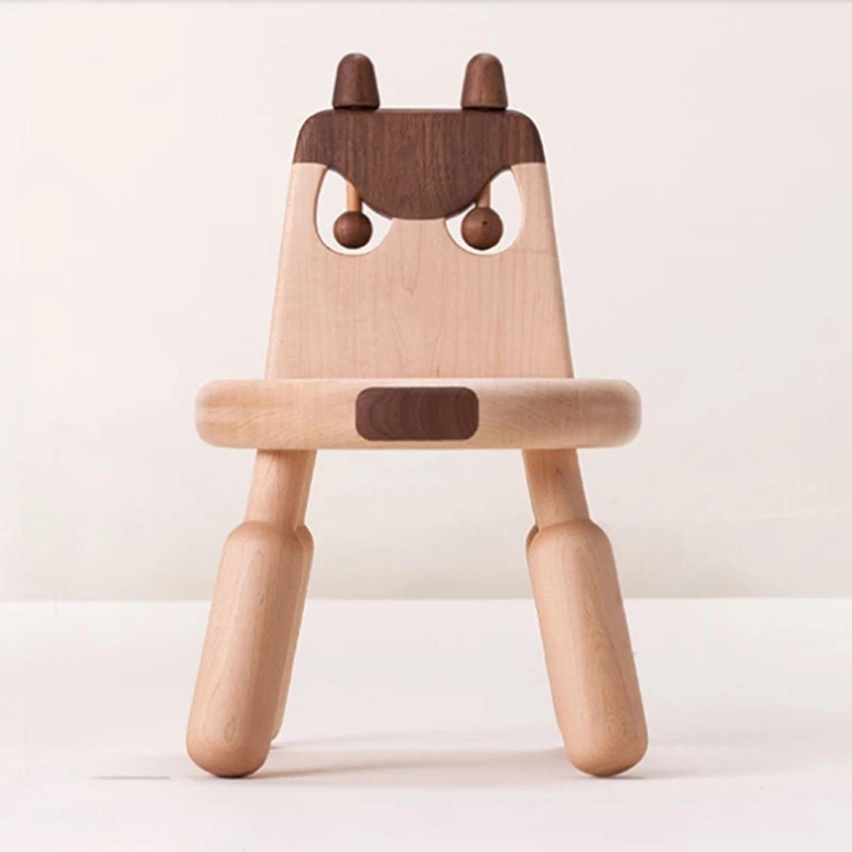 Mukabo Crazy Dog Ahşap Çocuk Sandalye